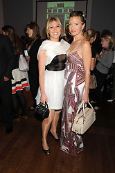 Left to right, HOFIT GOLAN and CAPRICE BOURRET at the launch of Politics and The City - a new web site for women fusing politics with gossip, entertainment, news and fashion, held at the ICA, 12 Carlton House Terrace, London on 8th July 2008.<br />
