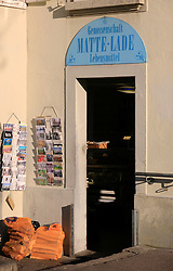 SWITZERLAND BERN 1MAR12 - A Matte Lade souvenir and convenience store at Bern Matte next to the Aare river, Switzerland.....jre/Photo by Jiri Rezac....© Jiri Rezac 2012