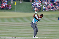 March 16, 2019 - Ponte Vedra Beach, FL, U.S. - PONTE VEDRA BEACH, FL - MARCH 16: Ollie Schniederjans of the United States plays a shot on the 18th hole during the third round of THE PLAYERS Championship on March 16, 2019 on the Stadium Course at TPC Sawgrass in Ponte Vedra Beach, Fl. (Photo by David Rosenblum/Icon Sportswire) (Credit Image: © David Rosenblum/Icon SMI via ZUMA Press)