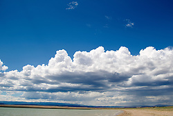 beautiful cloud formation over Lake Isabella in New Mexico