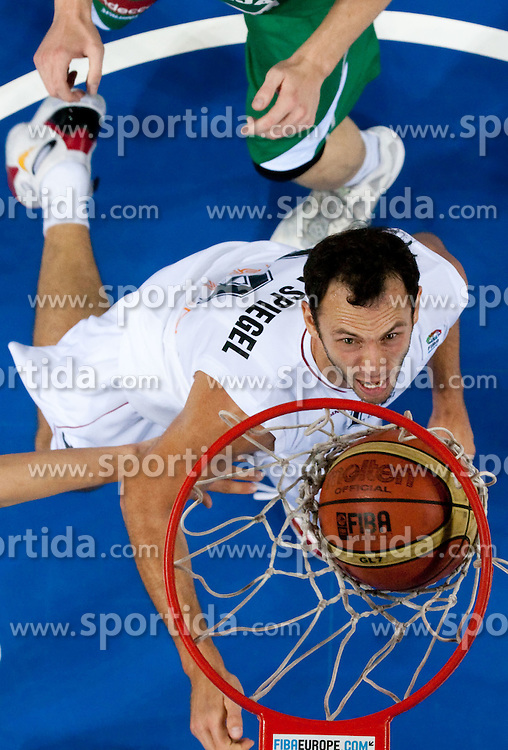 Thomas van den Spiegel of Belgium during basketball match between National teams of Belgium and Slovenia in Group D of Preliminary Round of Eurobasket Lithuania 2011, on September 4, 2011, in Arena Svyturio, Klaipeda, Lithuania.  Slovenia defeated Belgium 70-61. (Photo by Vid Ponikvar / Sportida)