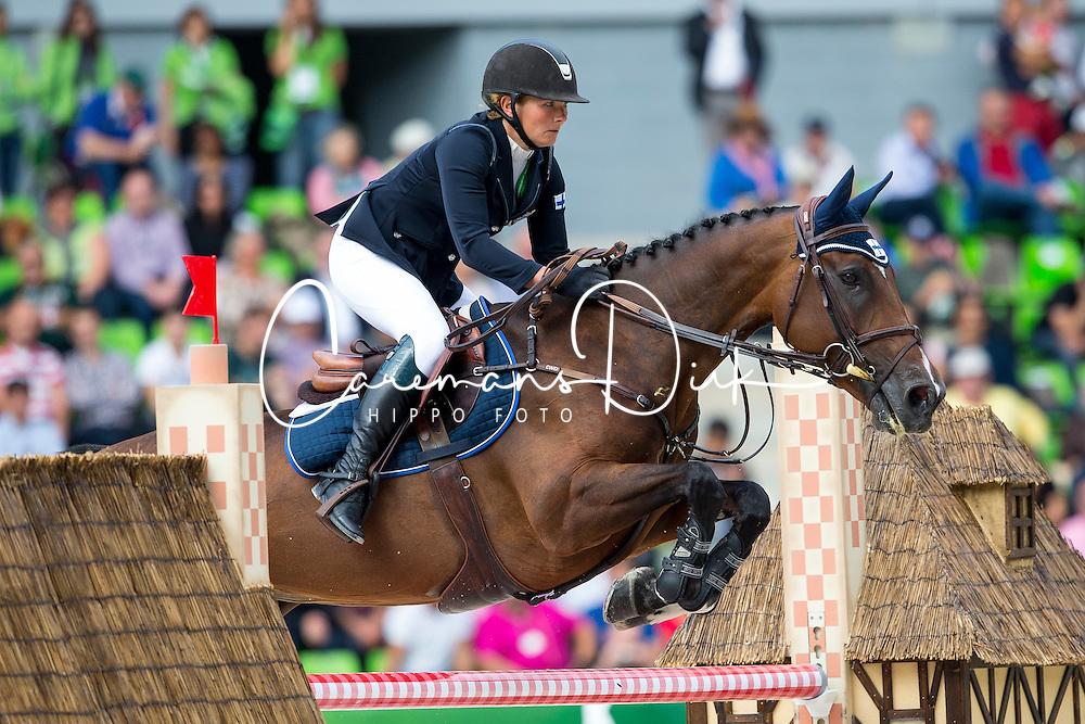 Satu Liukkonen, (FIN), Celestine - Team & Individual Competition Jumping Speed - Alltech FEI World Equestrian Games™ 2014 - Normandy, France.<br /> © Hippo Foto Team - Leanjo De Koster<br /> 02-09-14