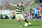 Forest Green Rovers midfielder Marcus Kelly (10) 0-1 during the Vanarama National League match between Forest Green Rovers and North Ferriby United at the New Lawn, Forest Green, United Kingdom on 1 April 2017. Photo by Alan Franklin.