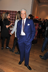 NICKY HASLAM at the launch of the Krug Happiness Exhibition at The Royal Academy, 6 Burlington Gardens, London on 12th December 2011.