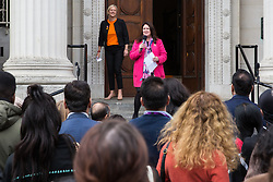 Luton, UK. 15 June, 2019. Rachel Hopkins, Labour councillor for High Town, addresses Luton Borough Council's People's Launch of its 'People Power Passion' programme of events for its Pilot Year of Culture, celebrating the creativity, vibrancy and diversity of Luton. 2019 marks 100 years since the Luton Peace Day riots and the programme will explore the themes of those riots and their impact on the people and places of the town. The council's strategy for the arts, cultural and creative industries includes plans for a bid to be named UK City of Culture in 2025.
