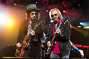Mike Campbell and Tom Petty perform during KAABOO Del Mar on September 17, 2017 in Del Mar, California.
