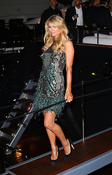 Paris Hilton attends Roberto Cavalli's boat party at the Cannes Film Festival. France. 22/05/2013<br />