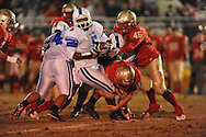 Lafayette High's Hayden Russom (41) and Lafayette High's Cortez Coleman (45) vs. Senatobia in Oxford, Miss. on Friday, October 19, 2012. Lafayette High won 23-7.