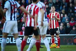 James Ward-Prowse of Southampton prepares to take a free kick - Mandatory by-line: Jason Brown/JMP - 07966386802 - 16/01/2016 - FOOTBALL - Southampton, St Mary's Stadium - Southampton v West Bromwich Albion - Barclays Premier League