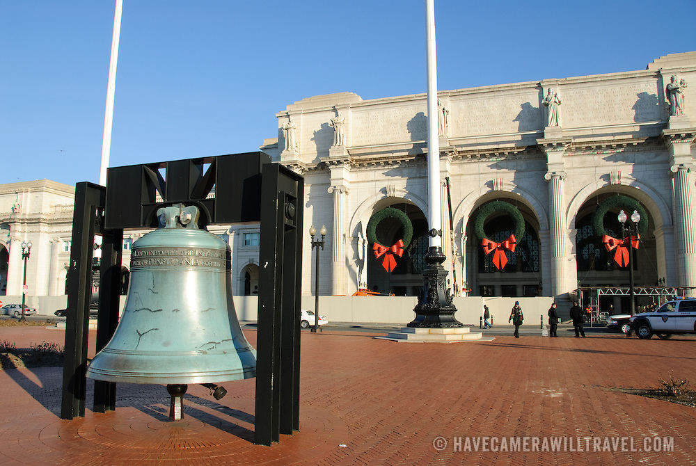 Liberty Bell copy outside Union Station in Washington DC