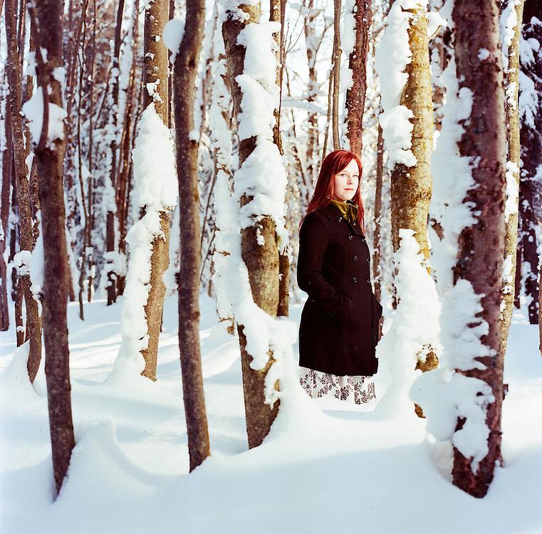 ANCHORAGE, AK - 2012: Singer songwriter Marian Call in Anchorage, Alaska.