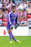 Nathan Trott (#1) of AFC Wimbledon during the EFL Sky Bet League 1 match between Sunderland and AFC Wimbledon at the Stadium Of Light, Sunderland, England on 24 August 2019.
