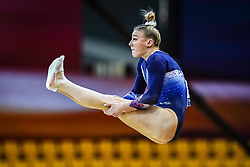 October 28, 2018 - Doha, Quatar - Lorette Charpy of  France   during  Floor  qualification at the Aspire Dome in Doha, Qatar, Artistic FIG Gymnastics World Championships on 28 of October 2018. (Credit Image: © Ulrik Pedersen/NurPhoto via ZUMA Press)