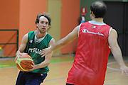 DOMEGGE DI CADORE 16 MARZO 2009<br /> BASKET NAZIONALE ITALIANA BASKET MASCHILE<br /> NELLA FOTO: POETA<br /> FOTO CIAMILLO