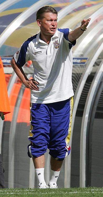 Fussball WM 2006  Gruppenspiel  Vorrunde Gruppe H  Spanien - Ukraine  Trainer Oleg BLOKHIN (UKR) gestikuliert