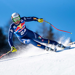 Emanuele Buzzi of Italy at the Ski Alpin: 80. Hahnenkamm Race 2020 - Audi FIS Alpine Ski World Cup - Men's Downhill Training at the Streif on January 22, 2020 in Kitzbuehel, AUSTRIA. (Photo by Horst Ettensberger/ESPA/CSM/Sipa USA) - Kitzbuhel (Autriche)