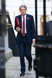 © Licensed to London News Pictures. 04/11/2014. LONDON, UK. Foreign Secretary Philip Hammond attending to a cabinet meeting in Downing Street on Tuesday 4 November 2014. Photo credit: Tolga Akmen/LNP