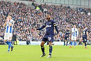 GOAL - Derby County defender Ashley Cole (26) celebrates 2-1 during the The FA Cup 5th round match between Brighton and Hove Albion and Derby County at the American Express Community Stadium, Brighton and Hove, England on 16 February 2019.