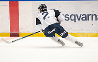 2018-08-04 | Jönköping, Sweden: HV71 (2) Kristofer Berglund during the HV71 ice premiere at Kinnarps Arena ( Photo by: Marcus Vilson | Swe Press Photo )<br /> <br /> Keywords: Ice Premiere, Season 2018/19, Sweden, SHL, Jönköping, Kinnarps Arena, Ice Hockey, HV71, , Kristofer Berglund