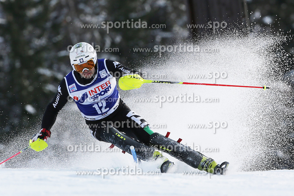 06.01.2014, Stelvio, Bormio, ITA, FIS Weltcup Ski Alpin, Bormio, Slalom, Herren, im Bild Patrick Thaler // Patrick Thaler  in action during mens Slalom of the Bormio FIS Ski World Cup at the Stelvio in Bormio, Italy on 2014/01/06. EXPA Pictures © 2014, PhotoCredit: EXPA/ Sammy Minkoff<br /> <br /> *****ATTENTION - OUT of GER*****