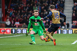 Artur Boruc of Bournemouth saves a shot from Aaron Ramsey of Arsenal - Mandatory by-line: Jason Brown/JMP - Mobile 07966 386802 07/02/2016 - SPORT - FOOTBALL - Bournemouth, Vitality Stadium - AFC Bournemouth v Arsenal - Barclays Premier League