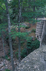 Acadia National Park, ME.Waterfall Bridge was built in 1925.  Carriage Roads.
