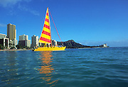 Catamaran, Waikiki, Oahu, Hawaii<br />