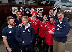 Players from Bristol Rugby and Bristol City , Bristol Sport Red Nose Day. - Photo mandatory by-line: Joe Meredith/JMP - Mobile: 07966 386802 - 05/03/2015 - SPORT - football - Bristol - Ashton Gate - Red Nose Day