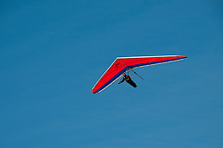 Hang gliding, hang glider, Fort Funston, San Francisco, California, USA.  Photo copyright Lee Foster.  Photo # california108396