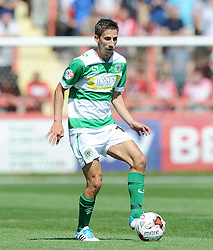 Yeovil Town's Wes Fogden - Photo mandatory by-line: Harry Trump/JMP - Mobile: 07966 386802 - 08/08/15 - SPORT - FOOTBALL - Sky Bet League Two - Exeter City v Yeovil Town - St James Park, Exeter, England.