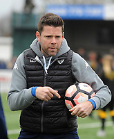Football - 2016 / 2017 FA Cup - Fourth Round: Sutton United vs. Leeds United<br /> <br /> Leeds coach James Beattie at Gander Green Lane.<br /> <br /> COLORSPORT/ANDREW COWIE