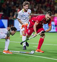 ANTWERPEN - Manu Stockbroekx (Belgie)   tijdens finale mannen  Belgie-Spanje-,  bij het Europees kampioenschap hockey.  COPYRIGHT KOEN SUYK