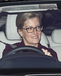 © Licensed to London News Pictures. 18/12/2019. London, UK. SOPHIE COUNTESS OF WESSEX. Members of the Royal Family seen leaving Buckingham Palace in West London after attending the Queen's annual Christmas lunch. Photo credit: Ben Cawthra/LNP