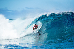 Jeremy Flores (FRA) advanced to Semis after placing 1st in  Quarters 4 at the Tahiti Pro 2018 ,Teahupoo, French Polynesia