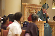 Archbishop Dolan addresses youth during his homily at the Cathedral of St. John the Evangelist in Milwaukee. (Sam Lucero photo)