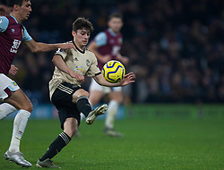Daniel James of Manchester United (R) gets away from Jack Cork of Burnley - Mandatory by-line: Jack Phillips/JMP - 28/12/2019 - FOOTBALL - Turf Moor - Burnley, England - Burnley v Manchester United - English Premier League