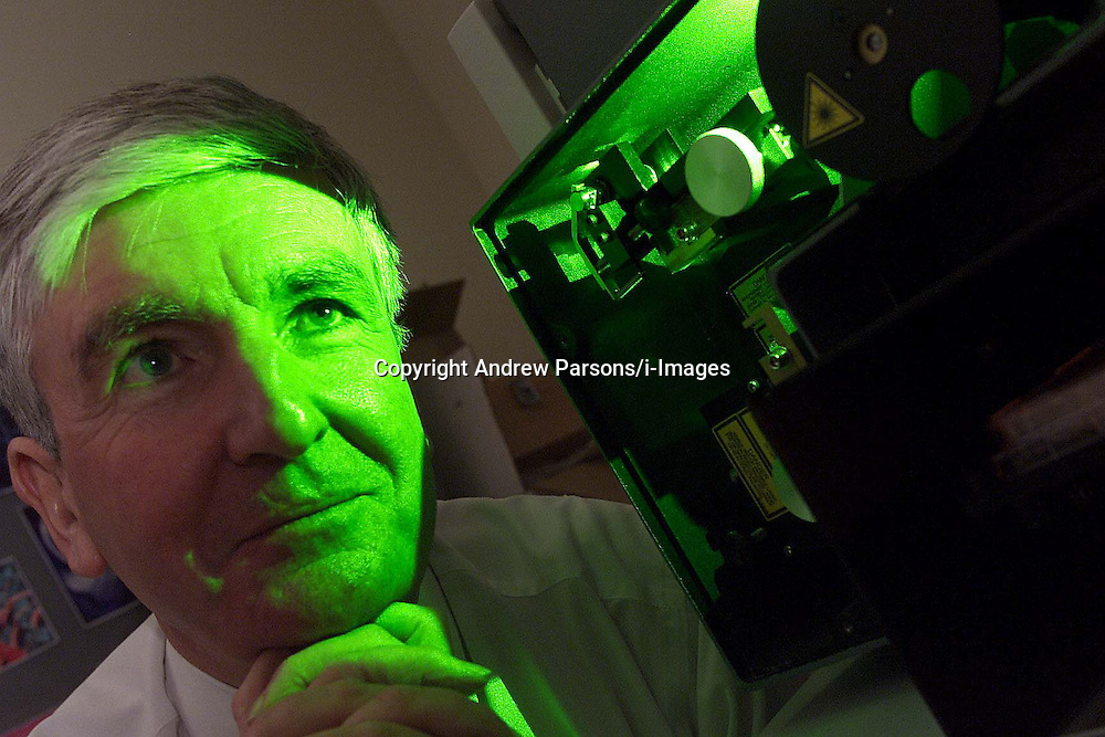 The Babraham Institute, Cambridge. Dr Richard Dyer, Chief Executive and Director. With Flow Cytometer Machine, December 1, 2000..Photo by Andrew Parsons/i-Images..