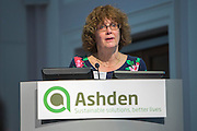 Dr Anne Wheldon, Knowledge and Research Advisor, Ashden chair of the Ashden 2016 International Conference:  Moving up the energy ladder: How can we amplify electricity access? <br /> Held at the RCN, London. UK.