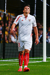Yevhen Konoplyanka of Sevilla shot is a near miss - Mandatory by-line: Jason Brown/JMP - Mobile 07966 386802 31/07/2015 - SPORT - FOOTBALL - Watford, Vicarage Road - Watford v Sevilla - Pre-Season Friendly