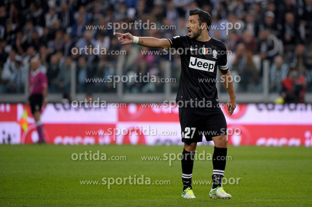 20.10.2012, Juventus Stadion, Turin, ITA, Serie A, Juventus Turin vs SSC Neapel, 8. Runde, im Bild Fabio Quagliarella Juventus // during the Italian Serie A 8th round match between Juventus FC and SSC Neapel at the Juventus Stadium, Turin, Italy on 2012/10/20. EXPA Pictures © 2012, PhotoCredit: EXPA/ Insidefoto/ Federico Tardito..***** ATTENTION - for AUT, SLO, CRO, SRB, SUI and SWE only *****
