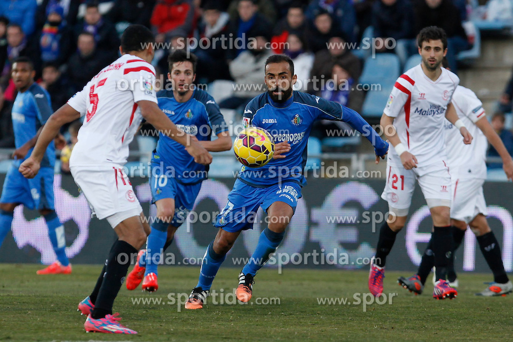 08.02.2015, Coliseum Alfonso Perez, Madrid, ESP, Primera Division, FC Getafe vs FC Sevilla, 22. Runde, im Bild Getafe&acute;s Roberto Lago // uring the Spanish Primera Division 22nd round match between Getafe FC and Sevilla FC at the Coliseum Alfonso Perez in Madrid, Spain on 2015/02/08. EXPA Pictures &copy; 2015, PhotoCredit: EXPA/ Alterphotos/ Victor Blanco<br /> <br /> *****ATTENTION - OUT of ESP, SUI*****