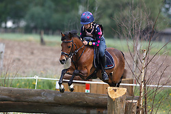 Malisart Michelle (BEL) - Catrien<br /> Nationaal Kampioenschap Eventing Pony's <br /> LRV Gavere 2014<br /> © Dirk Caremans