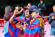 Barcelona fans ahead of the Champions League semi-final leg 1 of 2 match between Barcelona and Liverpool at Camp Nou, Barcelona, Spain on 1 May 2019.