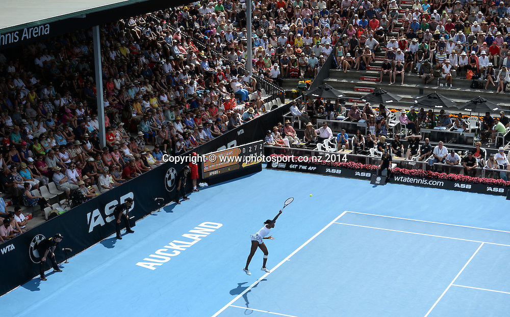 Women's singles final. Ana Ivanovic versus Venus Williams at the ASB Classic Women's International. ASB Tennis Centre, Auckland, New Zealand. Saturday 4 January 2014. Photo: Andrew Cornaga www.photosport.co.nz