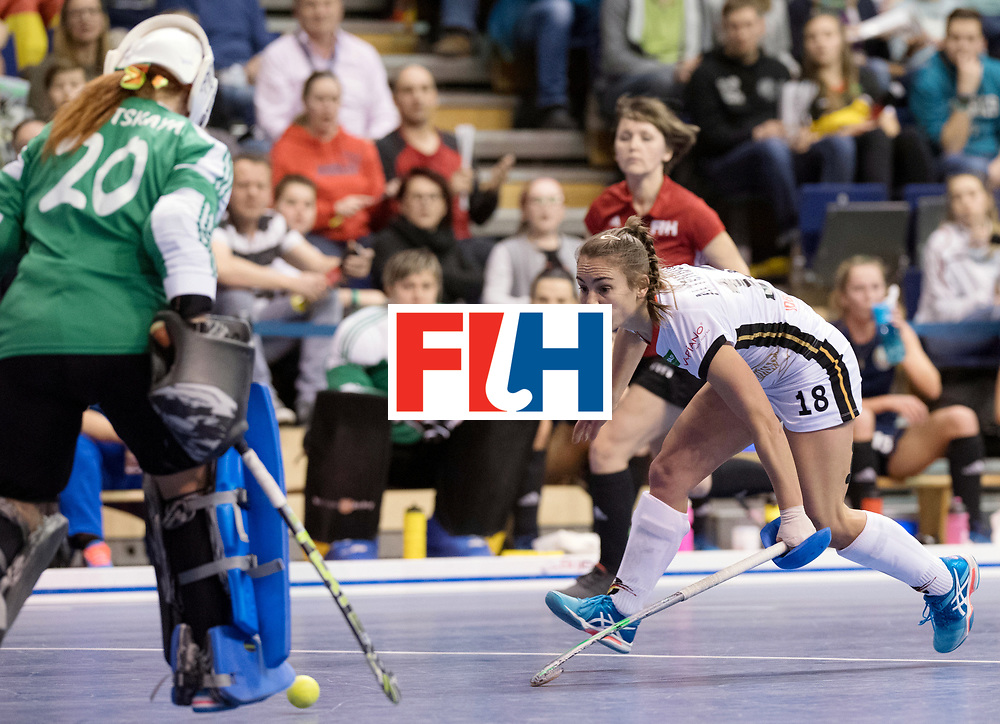 BERLIN - Indoor Hockey World Cup<br /> SF2 Belarus - Germany<br /> foto: Lisa Altenburg <br /> WORLDSPORTPICS COPYRIGHT FRANK UIJLENBROEK
