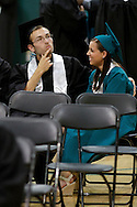Zachary Grosser and his girlfriend Erika Gonzalez spend a moment together before Deer Valley High School graduation on Friday, June 8, 2012. (Photo by Kevin Bartram)