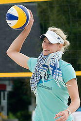 Sara Goller of Germany at practice 1 day before CEV European Continental Beach Volleyball Cup for Olympic Qualification, on September 3, 2010, in Zrece, Slovenia. (Photo by Matic Klansek Velej / Sportida)