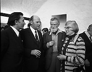 """Bloomsday at Joyce Tower,Sandycove..1972..16.06.1972..06.16.1972..16th June 1972..As part of the Bloomsday celebrations,Joyce Tower,Sandycove was renovated and opened to the public.The tower is an important part of the novel """"Ulysses"""" written by James Joyce.The celebration in part is organised by the Eastern Regional Tourism Organisation..Photographed at the reopening of The Joyce Tower in Sandycove were, Mr P j Long,Manager,E.R.T.C.,Mr Eamonn Ceannt,Director General,Bord Failte, mr Seamus Kelly, 'Quidrunc',Irish Times and Mrs John Garvin."""