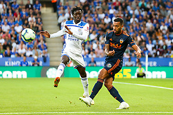 Jeison Murillo of Valencia under pressure from Wilfred Ndidi of Leicester City - Mandatory by-line: Robbie Stephenson/JMP - 01/08/2018 - FOOTBALL - King Power Stadium - Leicester, England - Leicester City v Valencia - Pre-season friendly