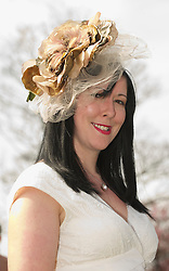 LIVERPOOL, ENGLAND - Friday, April 9, 2010: Helen Dansby-Scott from Wavertree attends Ladies' Day during the second day of the Grand National Festival at Aintree Racecourse. (Pic by David Rawcliffe/Propaganda)